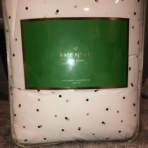 BRAND NEW Kate Spade Confetti Dot Comforter Set